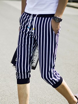 Ericdress Three-Quarter Leg Vogue Stripe Slim Men's Shorts