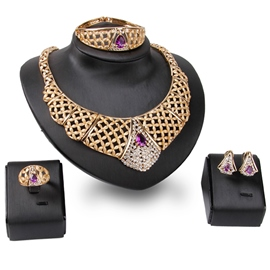 Ericdress Diamante Alloy Jewelry Set