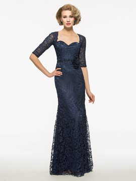Ericdress Elegant Sweetheart Half Sleeves Lace Mother Of The Bride Dress