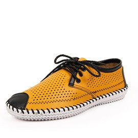Ericdress Patent Leather Cut Out Men's Casual Shoes
