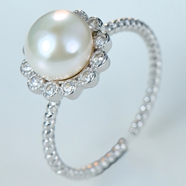 Ericdress Personality Pearl Open Ring