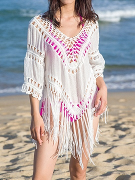 Ericdress Fish Net Tassel Loose Vogue Cover-Up