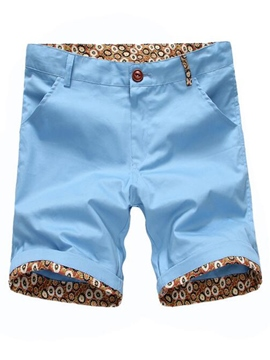 Ericdress Print Slim Men's Shorts