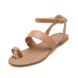 Ericdress Toe Ring Ankle Strap Flat Sandals