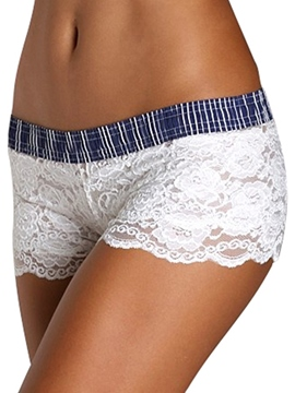 Ericdress Color Block Lace Shorts