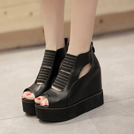 Ericdress Popular Peep Toe Cut Out Wedge Sandals