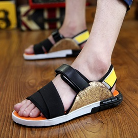 Ericdress Open Toe Color Block Men's Sandals