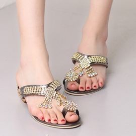 Ericdress Rhinestone Ring-Toe Mules Shoes