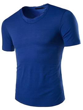 Ericdress Short Sleeve Casual Solid Color Men's T-Shirt