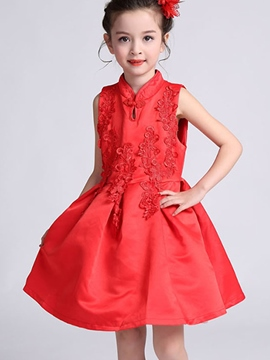 Ericdress Mandarin Collar Girls Dress