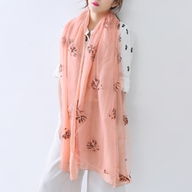 Ericdress Embroidery Cotton Scarf