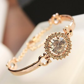 Ericdress Simple Crystal Diamante Bracelet
