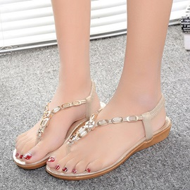 Ericdress Bohemian Metal Decorated Flat Sandals