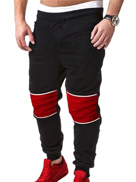 Ericdress Color Block Lace-Up Sports Men's Pants