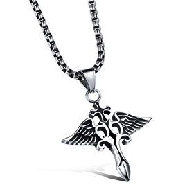 Ericdress Classic Demon Wing Pendant Men's Necklace