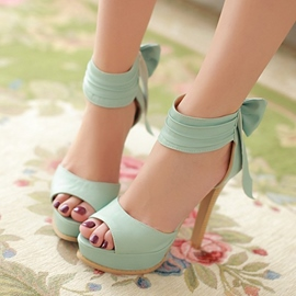 Ericdress Fresh Peep Toe Stiletto Sandals