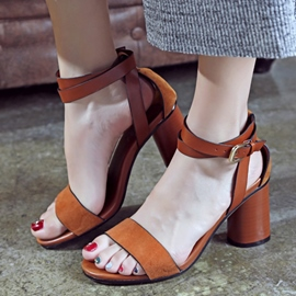 Ericdress Buckle Open Toe Chunky Sandals