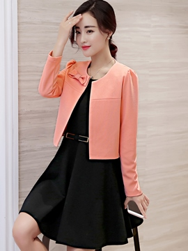 Ericdress Elegant Solid Color Short Blazer