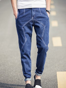 Ericdress Denim Casual Pocket Men's Pencil Pants