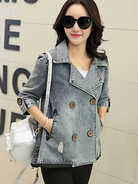 Ericdress Casual Loose Denim Jacket