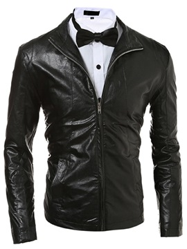 Ericdress Zip Slim Casual Men's Jacket