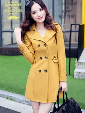 Ericdress OL Double-Breasted Trench Coat