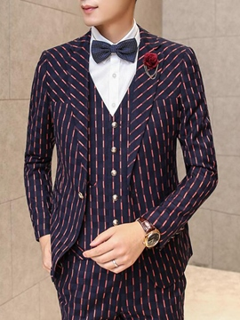 Ericdress Vogue Striped Slim Three-Piece of Men's Suit