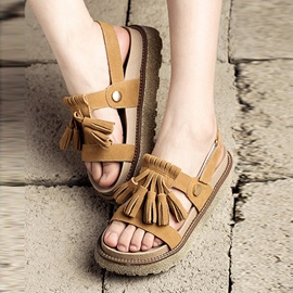 Ericdress Pretty Fringe Flat Sandals