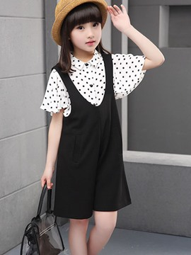 Ericdress Suspenders Pants Girls Outfit
