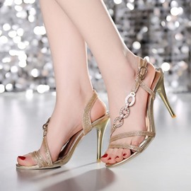 Ericdress Popular Rhinestone&sequins Stiletto Sandals