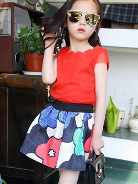 Ericdress Casual Floral Girls Outfit
