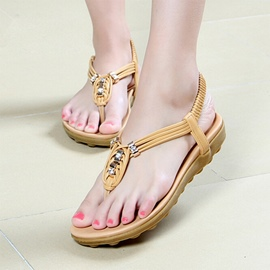 Ericdress Chic Bohemian Clip Toe Flat Sandals