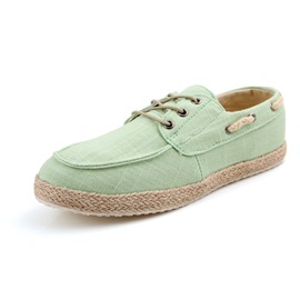 Ericdress New Linen Lace up Men's Canvas Shoes