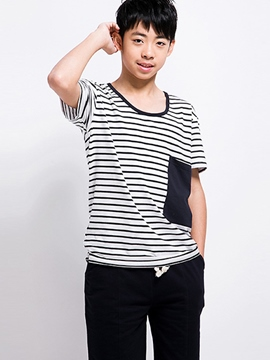 Ericdress Stripe Boys Shorts Outfit