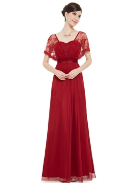 Ericdress A-Line Sweetheart Lace Pleats Long Evening Dress