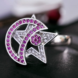 Ericdress Special Moon & Star Women Ring