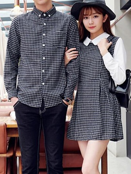 Ericdress Casual Plaid Couple Suits