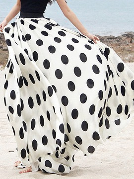 Ericdress Dots Print Expansion Maxi Skirt