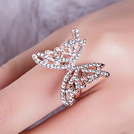 Ericdress Shining Butterfly Ring for Women