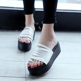 Ericdress Platform Slip-On Toe Ring Mules Shoes