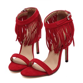 Ericdress Open Toe Tassel Stiletto Sandals