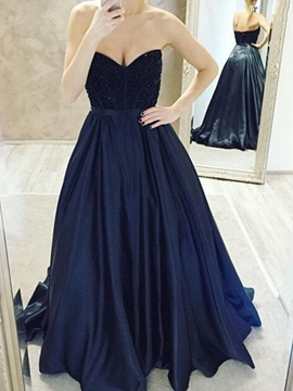 Ericdress A-Line Sweetheart Floor-Length Prom Dress