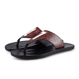 Ericdress Antiskid PU Thong Men's Beach Sandals