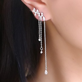 Ericdress Sweet Crystal Asymmetric Stud Earrings