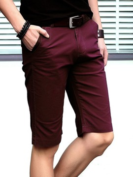Ericdress Half Leg Straight Slim Men's Shorts