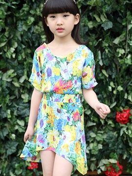 Ericdress Bohemian Print Girls Dress
