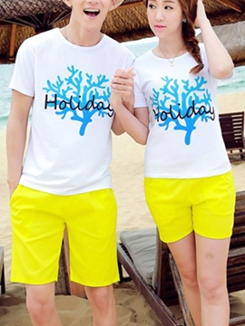 Ericdress Casual Beach Couple Suit