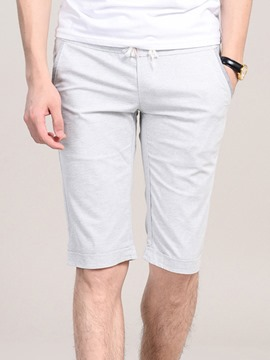 Ericdress Lace-Up Half Leg Casual Men's Shorts
