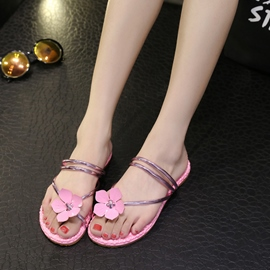 Ericdress Flower Decorated Flat Sandals