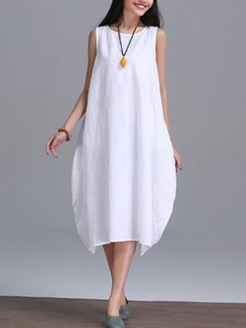 Ericdress Mori Girl Plain Sleeveness Casual Dress